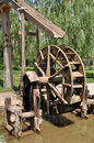 The waterwheel invented by duan xu in the ming dynasty is the oldest one it is in lanzhou city which was reputed to be the city of Royalty Free Stock Images
