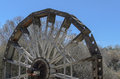 Waterwheel on the river jucar Royalty Free Stock Image