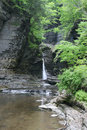 Watkins Glen Gorge and Waterfall Royalty Free Stock Image