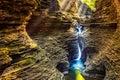 Watkins Glen State Park waterfall Royalty Free Stock Photo