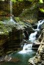 Watkins glen state park watkins glen water fall ny in in Royalty Free Stock Images