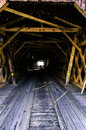 Watson s mill bridge image of inside of wooden covered called Royalty Free Stock Images