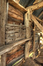 Wattle panel england interior of timber framed barn showing infill detail worcestershire Royalty Free Stock Images