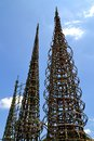 Watts towers famous created by simon rodia in los angeles Stock Photo