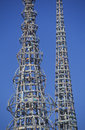 Watts Towers 20th Anniversary of the 1965 riots, Los Angeles, California Royalty Free Stock Photo