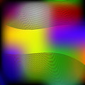 Wave Abstract Colorful Background. Vector Eps10