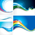 Wave background set collection of abstract design Royalty Free Stock Photography
