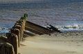 Wave breakers beach spurn head Stock Images