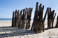 Wave breakers on the saint malo brittany france Royalty Free Stock Image