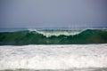 Wave breaking at Zicatela Mexican Pipeline Puerto Escondido Mexico Royalty Free Stock Photo