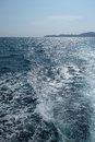 Wave bubble from bottom boat Royalty Free Stock Photo