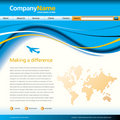 Wave business web template Stock Photos
