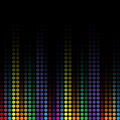 Wave colorful mosaic background Royalty Free Stock Photography