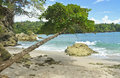 Wave Crashing on Playa Manuel Antonio Royalty Free Stock Photo