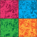 Wave crazy color set frame seamless pattern Royalty Free Stock Photo