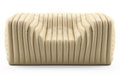 Wave cream armchair leather Royalty Free Stock Image