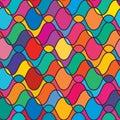 Wave draw line symmetry seamless pattern