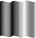 Wave Illusion Stock Photo