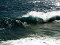 Wave a large and rough breaking on the wild south west coast of victoria australia Stock Photo