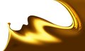 Wave of liquid gold on a white background Royalty Free Stock Photos