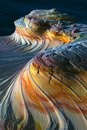 The Wave North Coyote Buttes has this Upper Second rock formation North Coyote Buttes in Paria Canyon Vermilion Cliffs Wilderness Royalty Free Stock Photo
