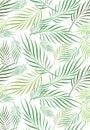Coconut Leaf Art Seamless Pattern Royalty Free Stock Photo