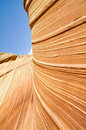 The wave sandstone in coyote buttes north arizona is a Royalty Free Stock Photography