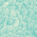 Wave seamless pattern in doodle style.