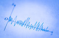 Wave signals closeup picture of on the paper Stock Image