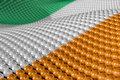 Wave of spheres in the colors of Ireland Stock Images