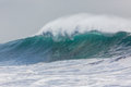 Wave swells ocean water power from weather storms Stock Images