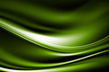 Wave white glow lines green background Stock Photography
