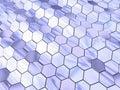 Waved hexagon space