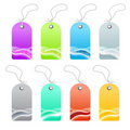 Waved lined art retail tags Royalty Free Stock Photography