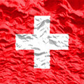 Waved Switzerland Flag Royalty Free Stock Photo