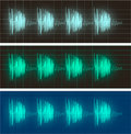 Waveform display of electric signals Royalty Free Stock Photo