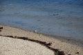 Wavelet on the beach Royalty Free Stock Photo