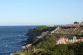 The waverley cemetery top of cliffs at bronte in eastern suburbs of sydney Royalty Free Stock Photography