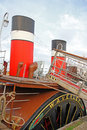 Waverley paddle steamer photo of the historic at whitstable harbour on th sept photo ideal for historic boats maritime history Royalty Free Stock Photos