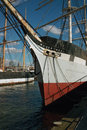 The wavertree at south street seaport new york one of last iron sailing ships to be built is docked museum on east river Royalty Free Stock Images