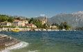 Waves along the coast of Lake Como at the Town of Tremezzo