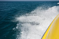 Waves from boat in the Mediterranean Sea Royalty Free Stock Photo