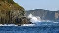 Waves Breaking On Sea Cliffs