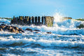 Waves breaking Royalty Free Stock Photo