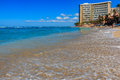 Waves breaking on Waikiki beach in Honolulu Hawaii Royalty Free Stock Photo