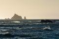 stock image of  Waves crash at Rialto Beach in Olympic National Park, Washington, US
