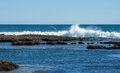 Waves Crashing at Blue Holes Beach Royalty Free Stock Photo