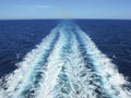 Waves of a cruisership Royalty Free Stock Photo