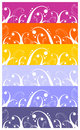 Waves and curls pattern background Royalty Free Stock Image