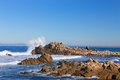 Waves Hitting Rocks In Pacific...